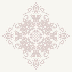 Damask Vector Pattern. Orient Pink Ornament
