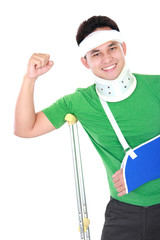 an injured man feel strong
