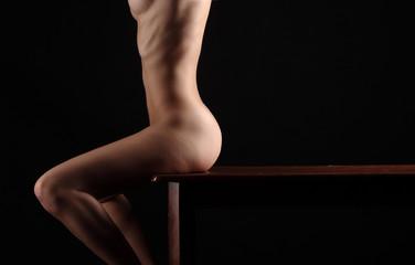 Sexy butt ass girls in black underwear isolated
