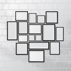 Big set of picture frames