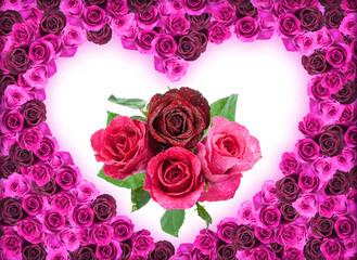 Valentine frame from Rose background
