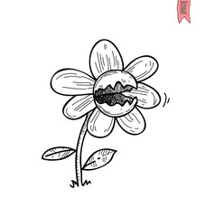 Flower icon, vector illustration.