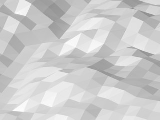 Abstract white digital 3d low poly surface background