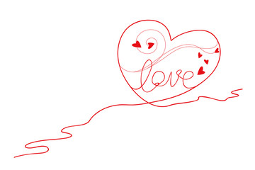 Vector heart shape design of yarn