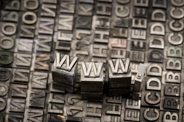 Internet www website by letterpress
