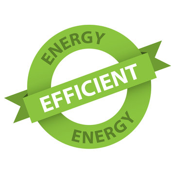 """""""ENERGY EFFICIENT"""" Stamp (label environmentally friendly)"""