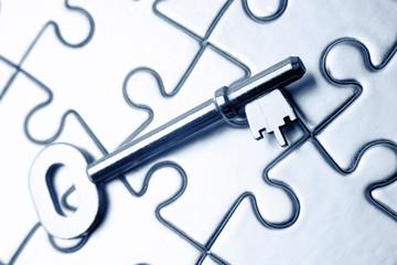 Key on puzzle