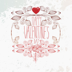 Vector Grunge Valentine Illustration