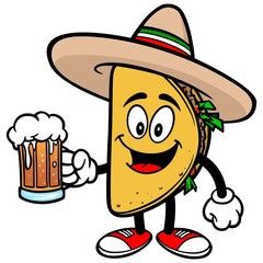 Taco with Beer