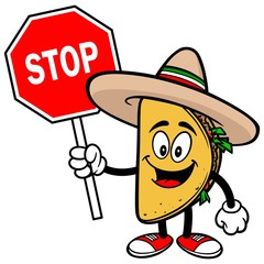 Taco with Stop Sign