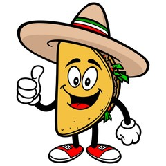 Taco with Thumbs Up