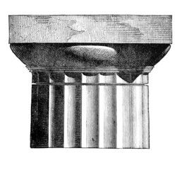 Wall Mural - Victorian engraving of a doric column capital