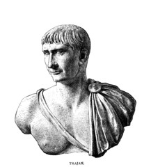 Wall Mural - Victorian engraving of the Roman emperor Trajan