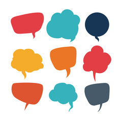 speech bubbles communication