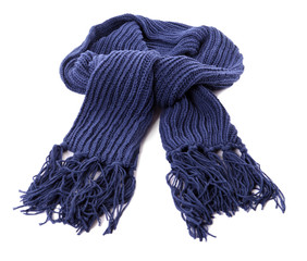Blue winter scarf