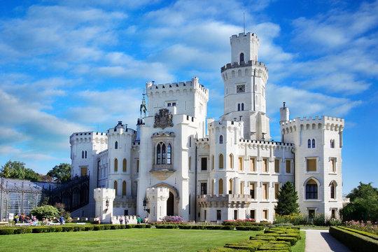 castle and gardens Hluboka, South Bohemia, Czech republic