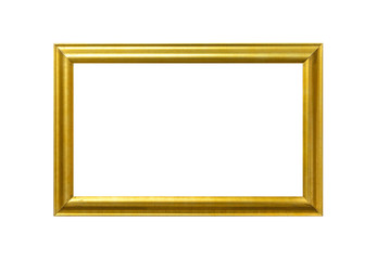 Gold frame Elegant vintage Isolated on white background