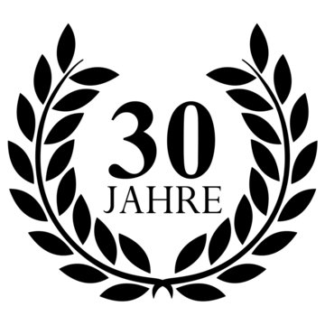 Lorbeerkranz. 30 jahre jubiläum