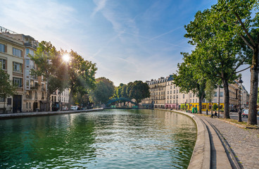 Photo sur Plexiglas Paris Paris - Canal Saint Martin, France