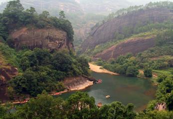 Scenic landscape in Wuyi Mountains, Fujian, China