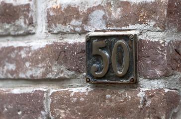Number 50 Red Bricks
