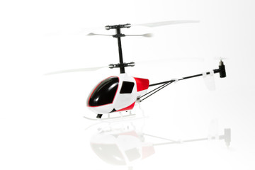 The flying RC helicopter