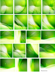 Set of abstract shining backgrounds