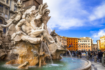 Rome   - beautiful piazza Navona