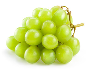 Fototapete - Green grape isolated on white background