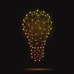 Illustration of modern vector atomic bulb