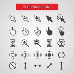 Vector Cursor Icons Set