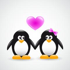 verliebte pinguine
