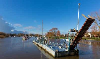 River Stour Christchurch Dorset England UK with boats
