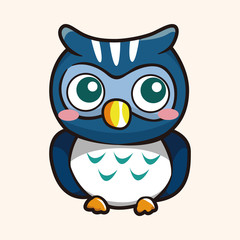 owl cartoon theme elements vector,eps