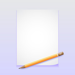 Paper with pencil vector