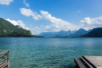 Alpenpanorama am See