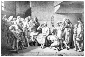Wall Mural - Victorian engraving of the death of Socrates