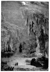 Victorian engraving of an Arctic sailing expedition