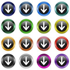 Button Pfeil metallic  #150128-05