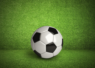 Green Wall and Soccer Ball