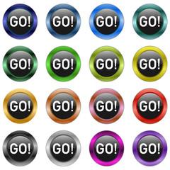 Go Start Button metallic  #150128-08