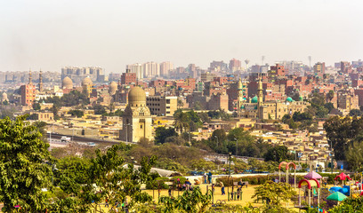 View of Cairo from Al-Azhar Park - Egypt
