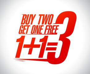 1+1=3 sale design.