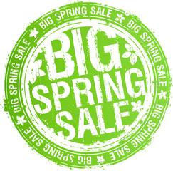 Big spring sale rubber stamp.