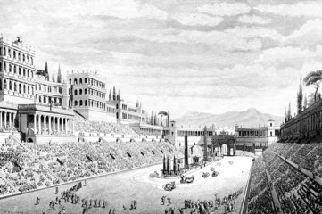 Wall Mural - Victorian engraving of the Circus Maximus, Rome