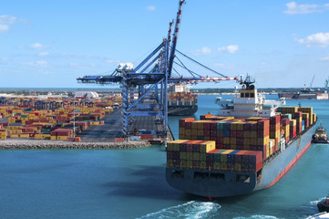 Container Port Ship Fotomurales