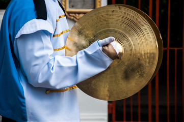 Cymbals in hand- School Marching Band