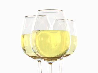 White wine in a glass
