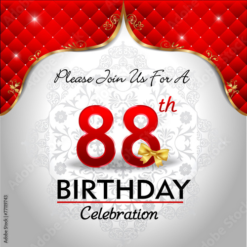 88th Happy Birthday Celebration Royal Red Card