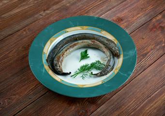 Grilled lamprey